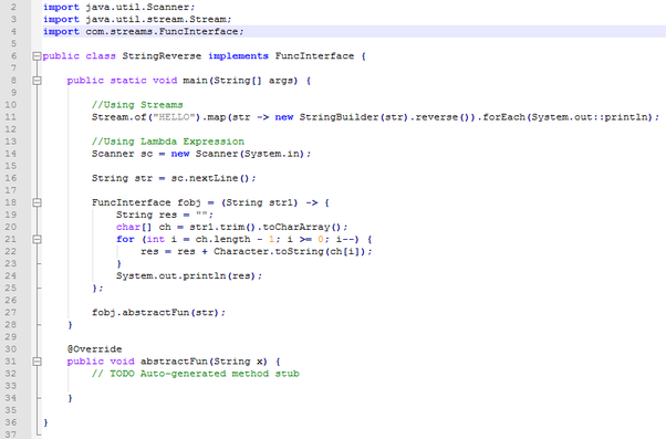 In Java 8, how can we reverse a single string using lambdas