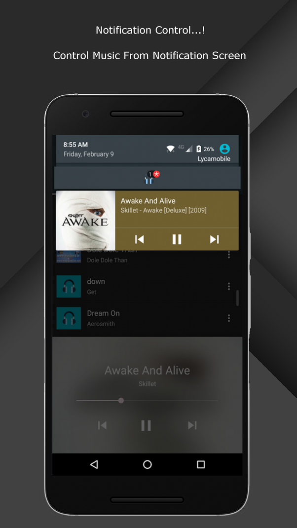 What are some nice ways to integrate ads in a music player for