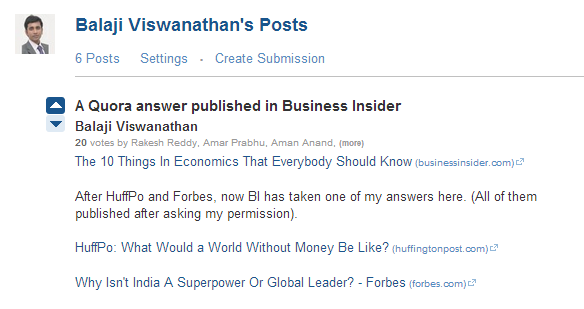Has anyone benefited tangibly from answering on quora and if so by 3 answers were picked by the top newspapersmagazines like forbesbusiness insider etc to publish articles using his answers on quora as reference stopboris Choice Image