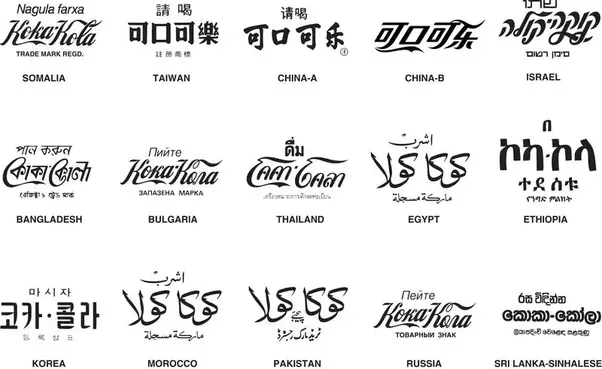 In What Countries Is The Coca Cola Logo In A Different Language Quora