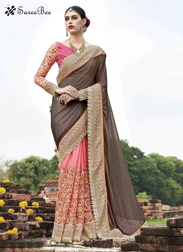 thin saree pics