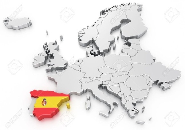 Map Of Spain In Europe.Why Is Spain European And Not North African Quora