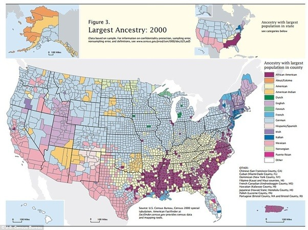 note this map shows the largest reported ethnicity per county not necessarily the majority for that county still most areas outside of cities have only