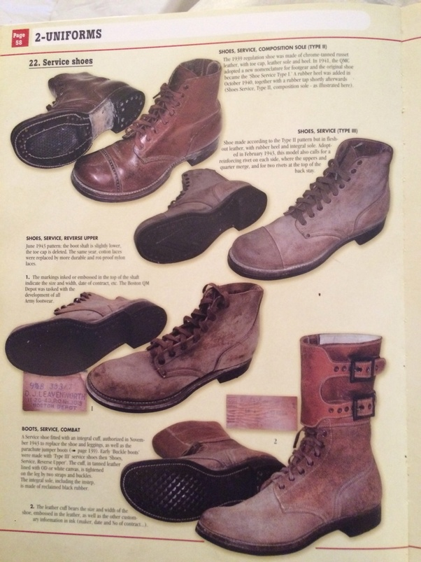 3a5d9622be4 Why did the boots of US soldiers in WWII have shoestrings and Soviet ...