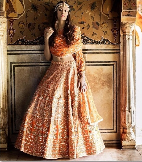7ed6f41e1ab1 Indian women like to buy wedding lehenga online because they get more  choice in design and color with good discount.