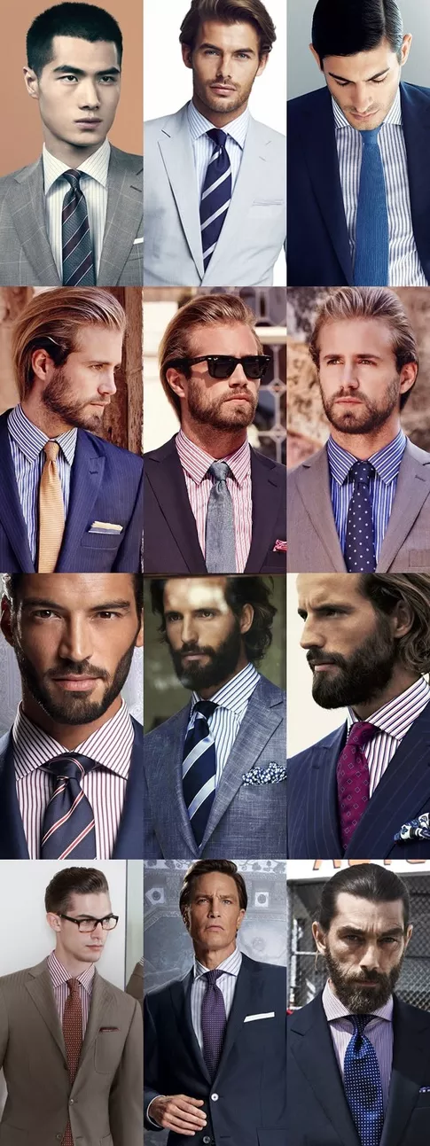 f3488ae20b What shirt colour is it acceptable to wear with a navy suit? And what  combination of colours would then be acceptable for ties & pocket squares?  - Quora
