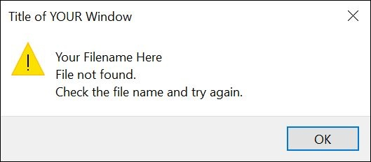 How to handle a VBA FileDialog error if no file has been selected
