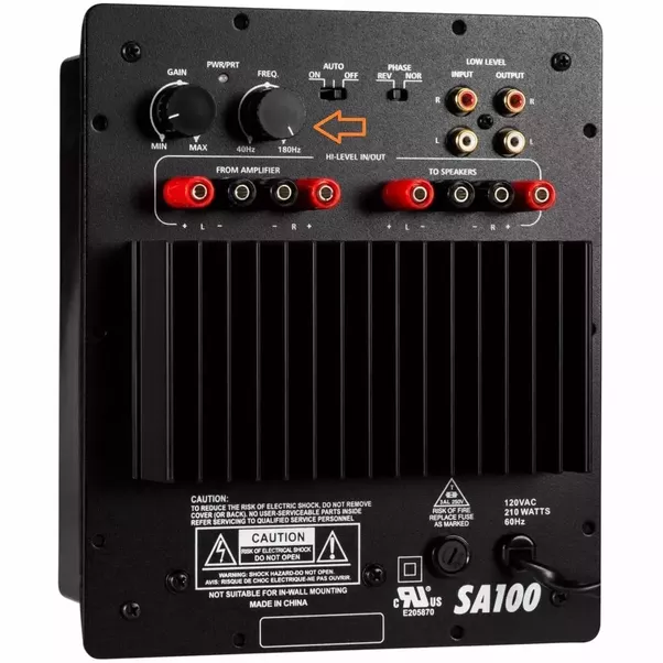 What are the frequency settings for a subwoofer? I have a
