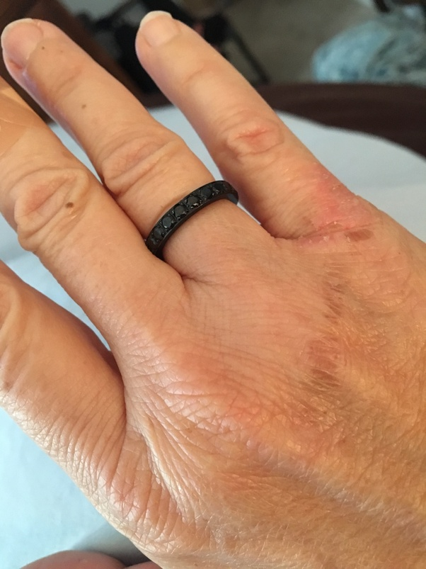 26341dba8e588 What is the significance of wearing a black ring on the ring finger ...