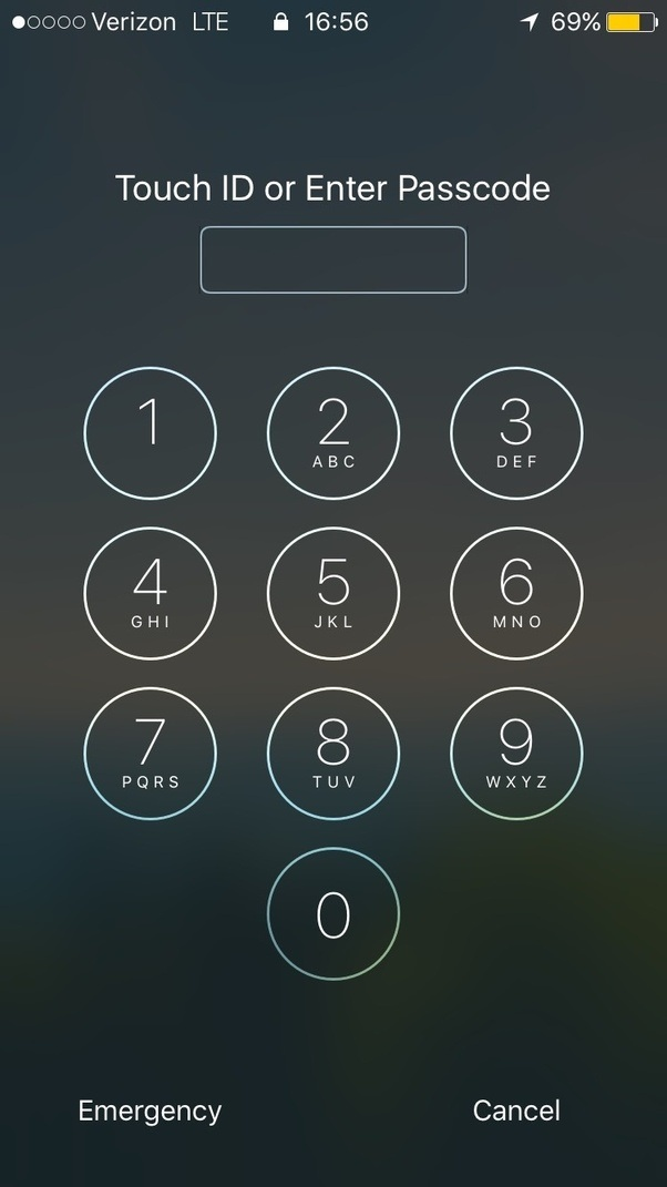 Iphone number keypad