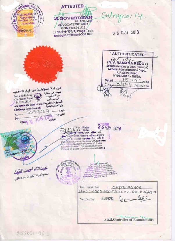 What Is The Process To Get A Marriage Certificate Attested By The