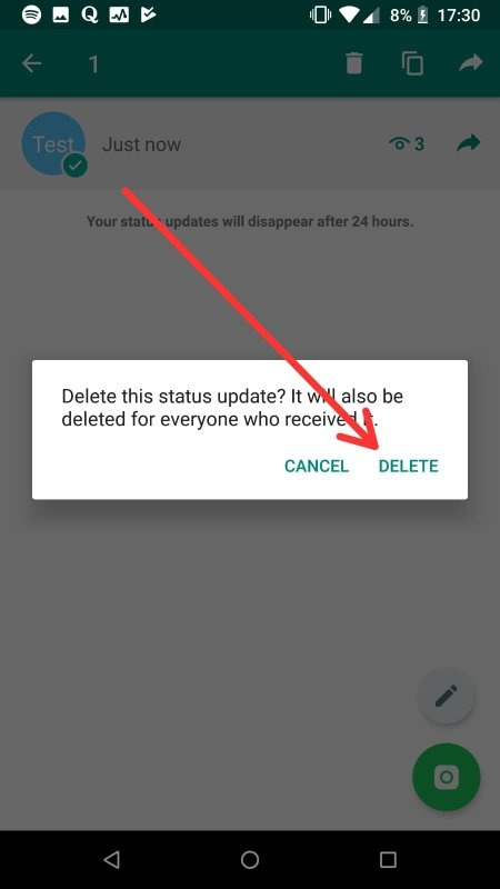 Can People Still See The Whatsapp Status Even The Image Has