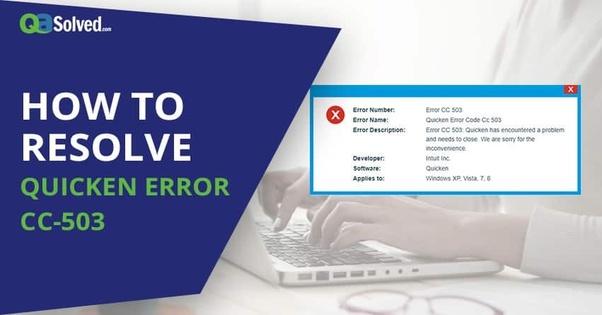 How to solve Quicken error cc-503 - Quora