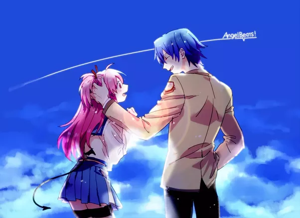 Angel Beats Was An Extraordinary Anime My Favorite Romance Scene Comes From Hinata And Yui Picture So I Highly Recommend It