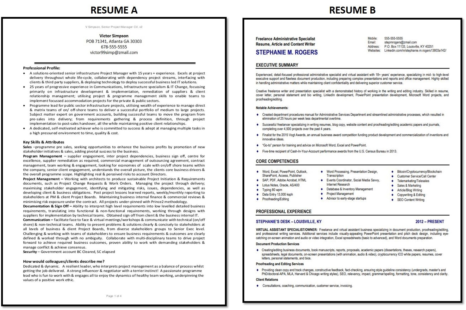 what do recruiters look for in a résumé at first glance quora