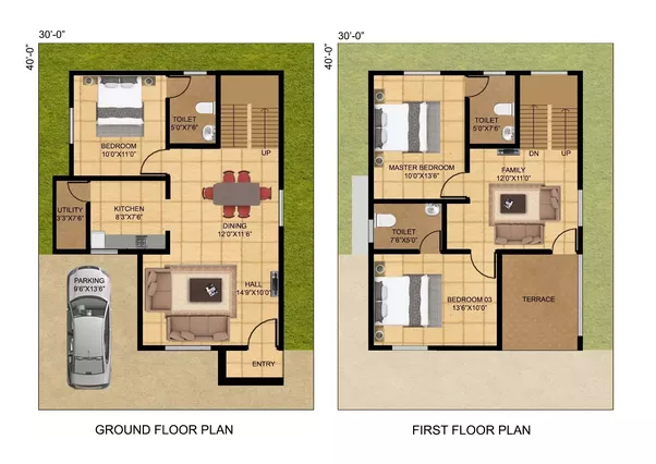 Floor plan for 1200 sqft plot review home decor for Plans d arkitek