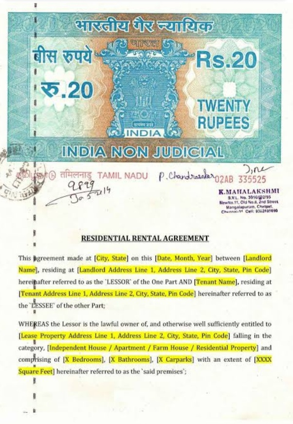 How Does It Cost To Make A Rental Agreement In Indore Quora