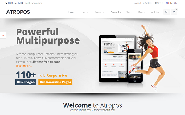 32 best corporate looking bootstrap 3 business popular atropos responsive website template friedricerecipe Gallery