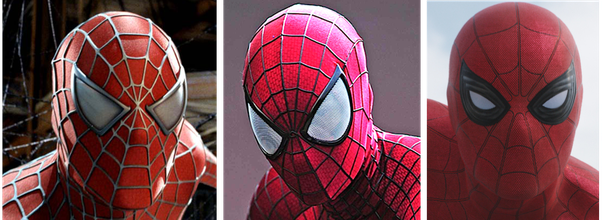 Spider-Man 3 This is the costume worn by Tobey Maguire. If you notice the black web patterns you can see it as a layer over the base red-blue fabric. & In the Captain America: Civil War trailer why did they make Spider ...