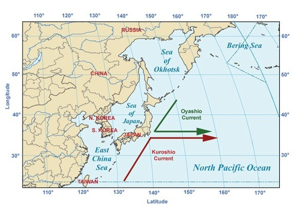 How true is the statement gulf of alaska where two oceans meet but meets the kuro shio current near japans east coast and flow towards the east to meet the north pacific current which is south to the gulf of alaska gumiabroncs