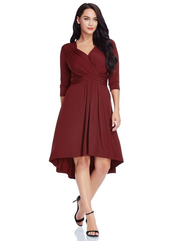 1785ab9b7a7 Originally Answered  What color of shoes should I wear with a maroon hi lo  formal dress  Black fits well as other colors giving you a good figure.
