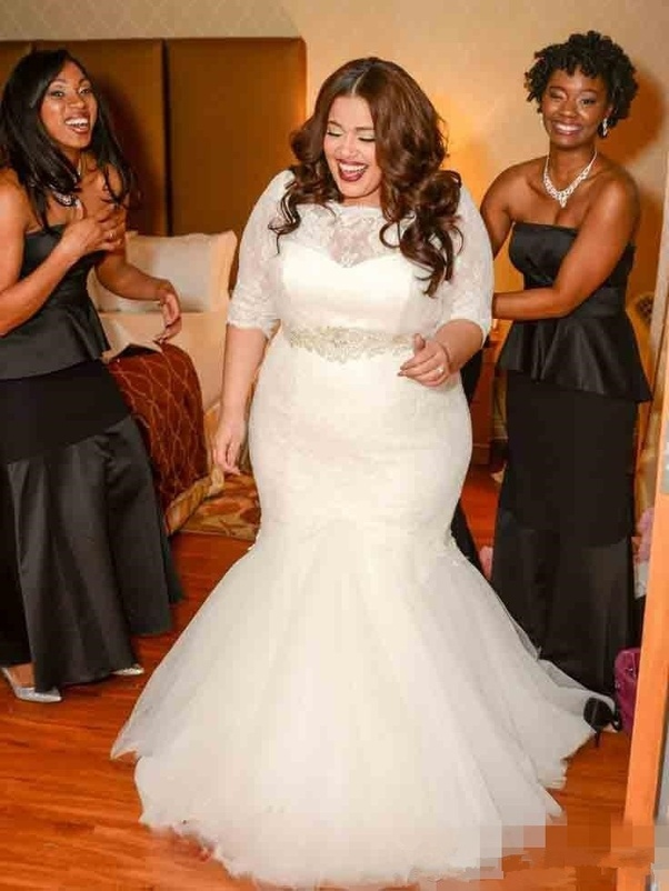 Which dress will suit as a wedding dress for fat girls? - Quora