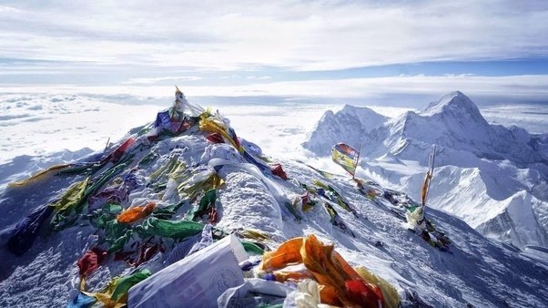 What is the top surface area of the Mount Everest? - Quora