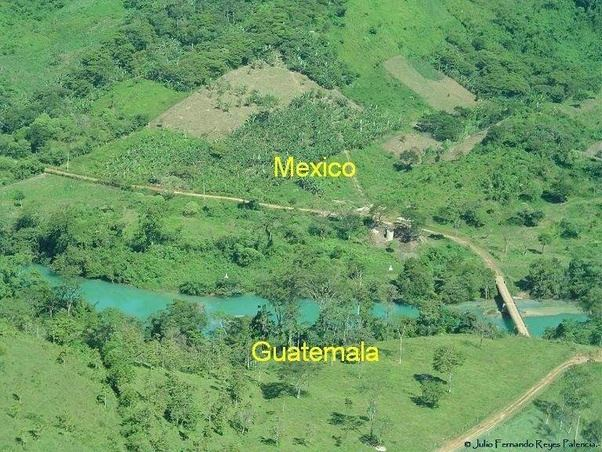 Image result for mexico guatemala border images