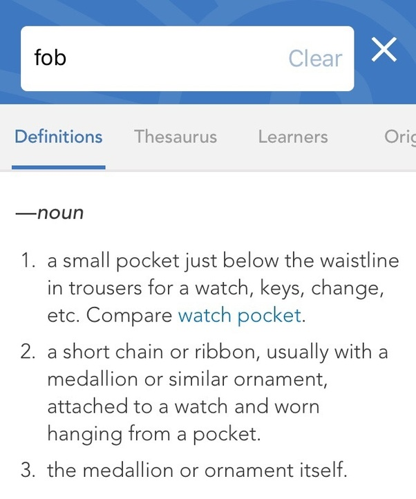Locked My Keys In My Car >> What does 'fob' mean as in key fob? - Quora