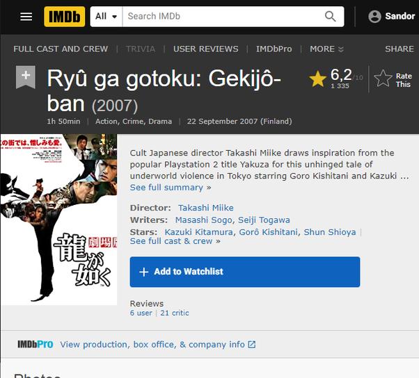 Is It Worth It To Watch Yakuza Like A Dragon Quora