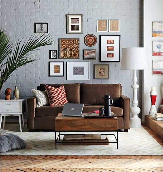 Brown Couch Living Room Design: How To Decorate A Brown Sofa And Dark Flooring