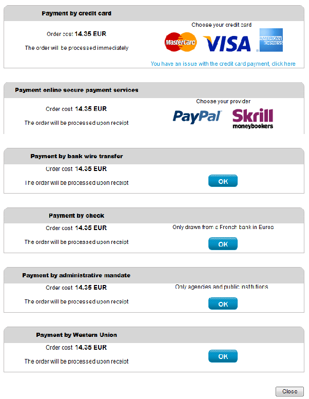 Forex payment methods