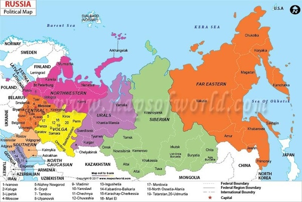 Countries Bordering China Map.How Many Countries Does Russia Border Quora