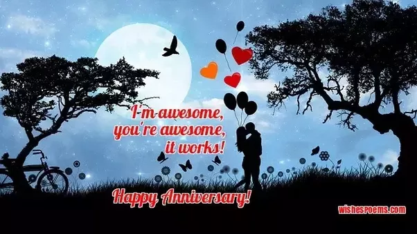 What is the most romantic message you can put in an anniversary