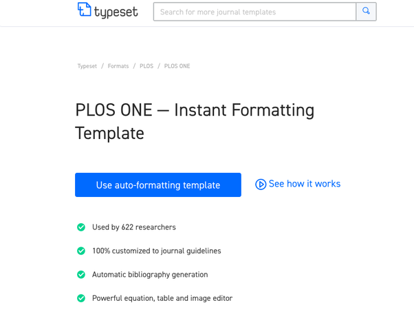 How to format my research paper to plos one quora step 2 on clicking youll be asked to enter your email on entering you will be redirected to the sign up page sign up with the rest of your credentials maxwellsz