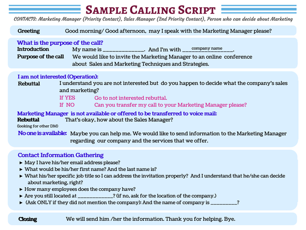What Is The Best Lead Generation Cold Call Script Quora