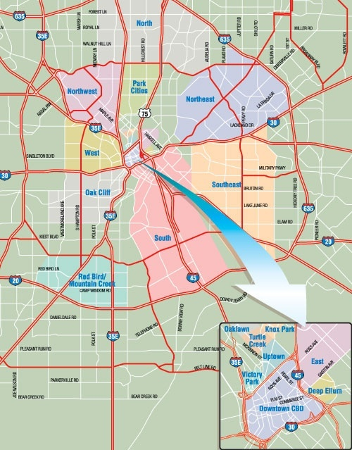 uptown dallas zip code map Which Areas Of Dallas Tx Are Considered South Dallas Quora
