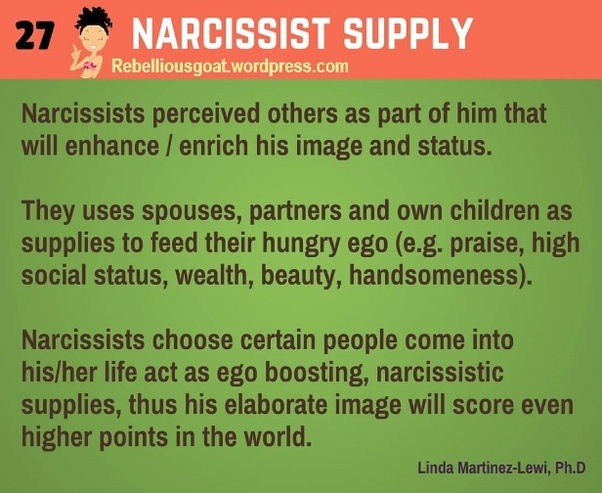 Narcissistic supply source