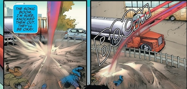 If Superman is 'faster than a speeding bullet' then he can ...