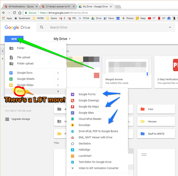 What is the difference between google docs and google drive quora on your drive you can create edit share and collaborate in real time its a far more sophisticated and powerful suite of products than most people ccuart Gallery