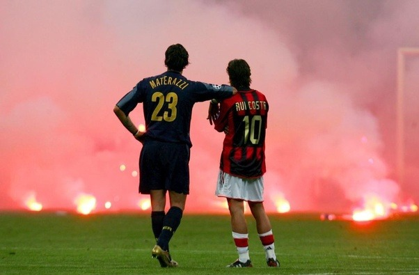 April 12 2005 The Second Leg Of Champions League Quarter Finals Which Pitted Inter Milan Against AC Were Leading 3 0 On Aggregate And