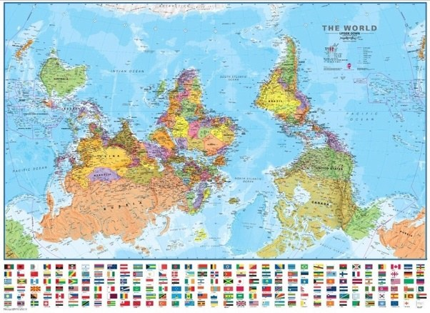 What if the world map was upside down quora a long time ago the map was flipped upside down the first few maps had europe below africa europeans of the time being very powerful gumiabroncs Image collections