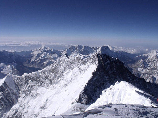 What's the view at the top of Mount Everest like? - Quora