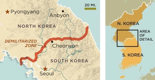 What is the border of north and south korea like quora notice that the western parts of northern south korea include a river that stretches from the sea on the west yellow sea down to seoul and eastern korea gumiabroncs Gallery