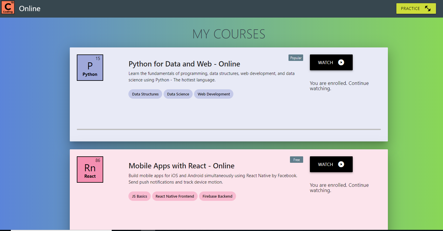 Which is the best online course available for learning