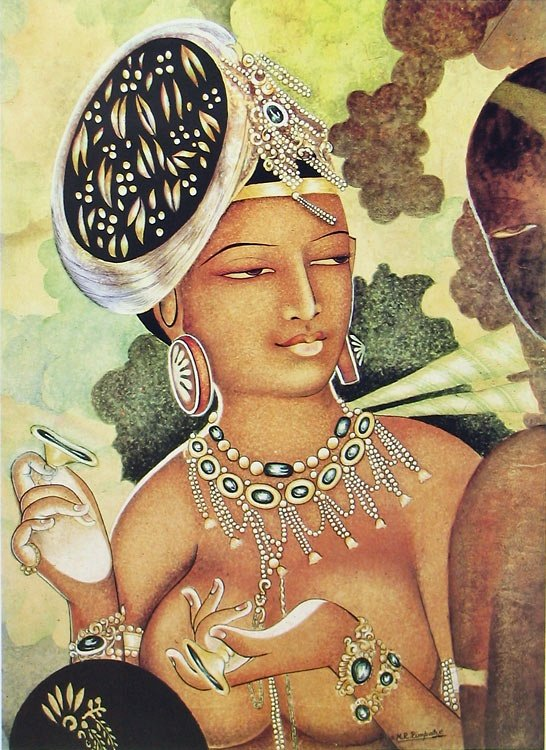 Nude indian girls painting — 6