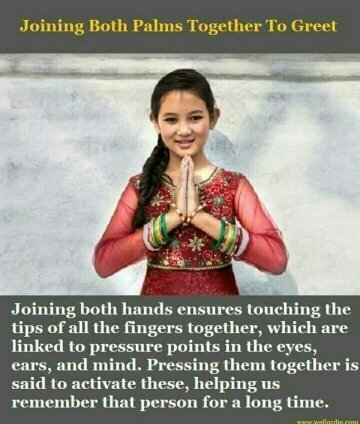 What does namaste mean quora this particular gesture is a greeting in hinduism also called namaste it means that i bow to the divine in you i respect you and i welcome you m4hsunfo