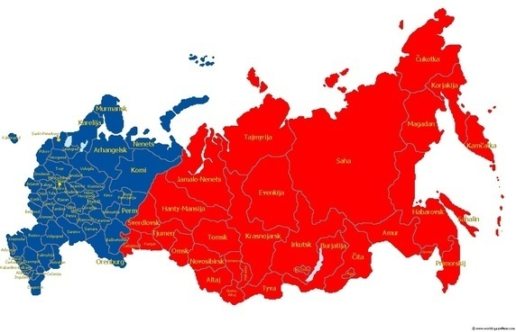 geographically russia is located in europe and asia