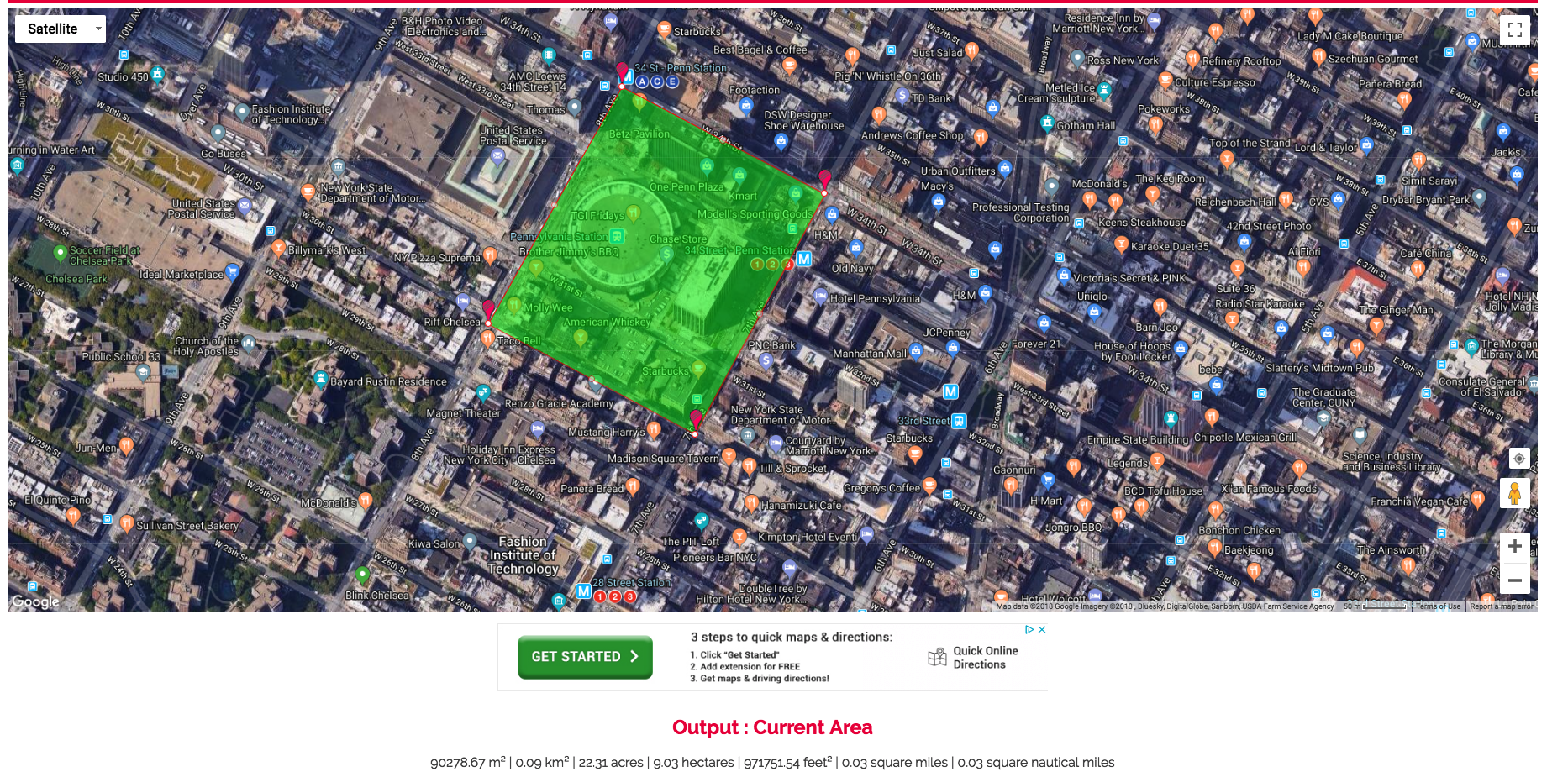 Or Roughly The Size Of 4 City Block In Nyc 22 Acres