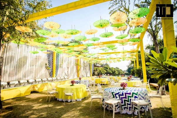What Are Some Decor Ideas For Wedding Functions Like Haldi Mehndi